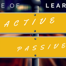 cone of learning active vs passive